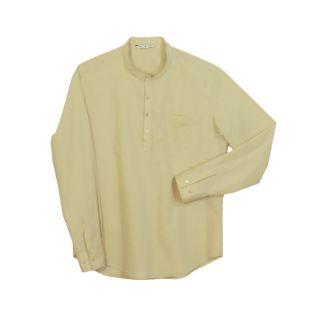 Camisa cuello mao hombre manga larga beige | Vittorio Uniformes