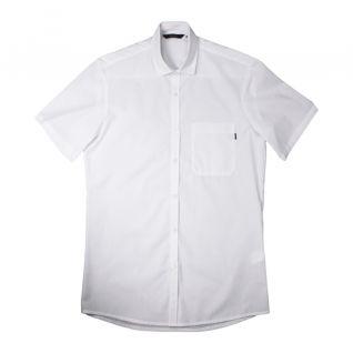 Camisa de trabajo blanca de hombre manga corta con bolsillo | Vittorio Uniformes