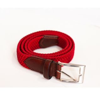 Cinturón trenzado elástico rojo | Vittorio Uniformes
