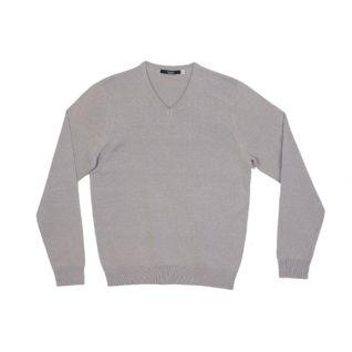 Jersey cuello pico de hombre gris | Vittorio Uniformes