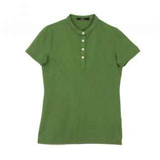 Polo cuello mao de mujer verde | Vittorio Uniformes
