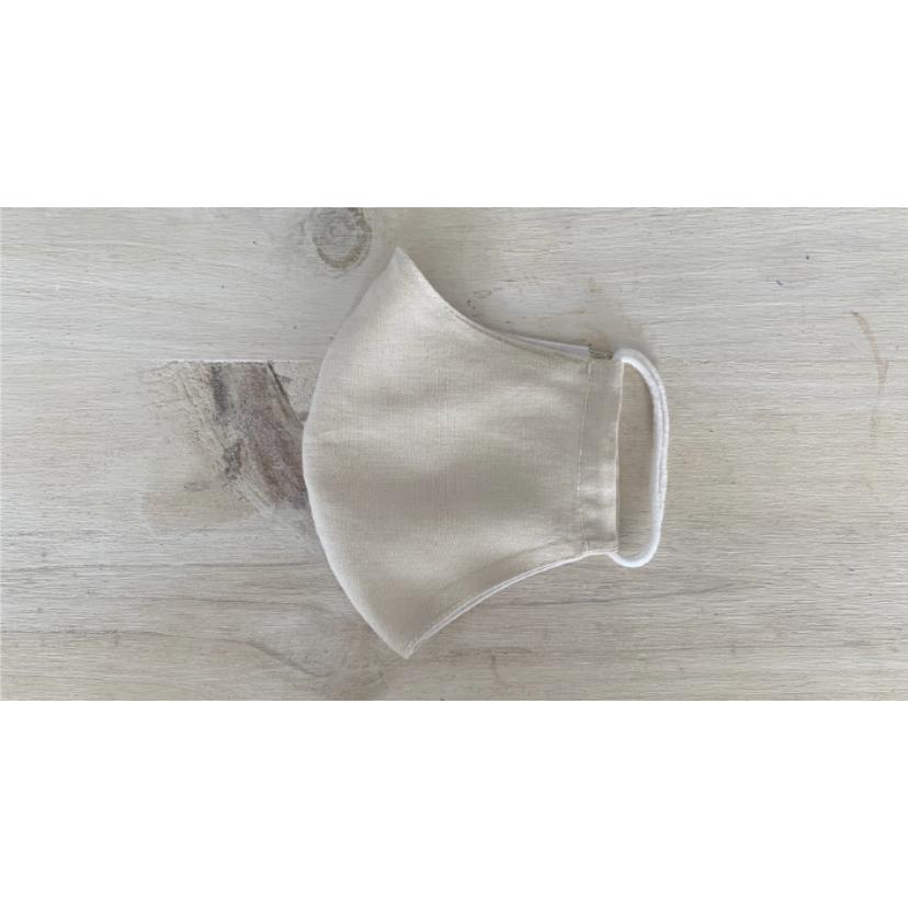 Mascarilla de tela algodón orgánico arena