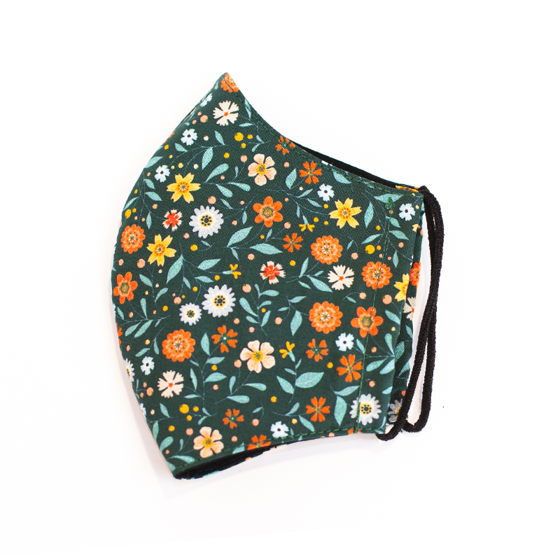 Mascarilla de tela flores para niños   Vittorio Uniformes
